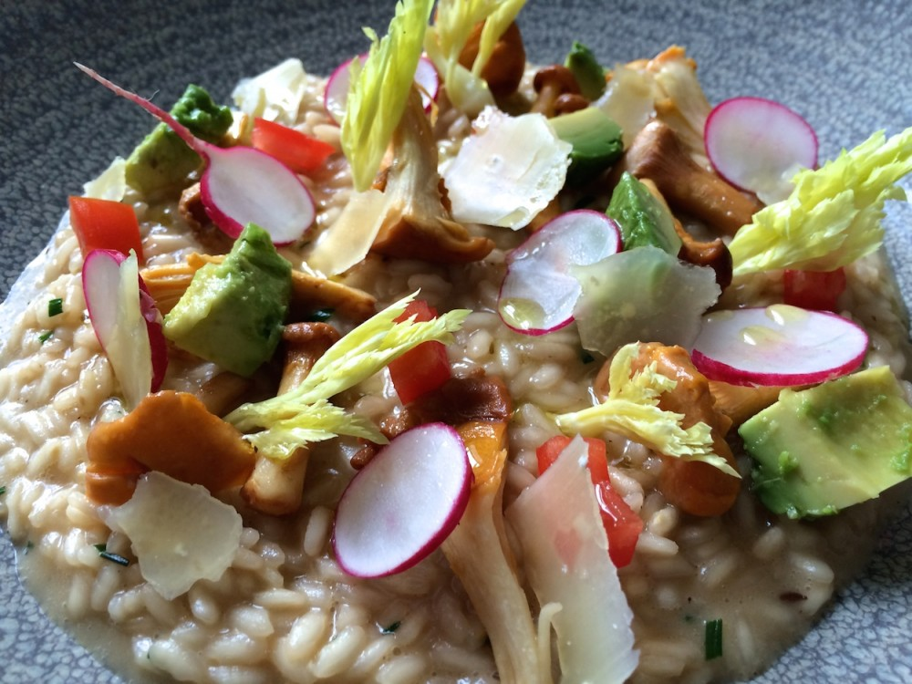 Liškové rizoto s avokádem a zeleninou