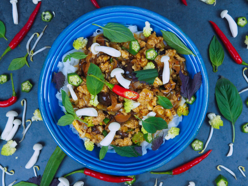Sečuánské ragú s houbami a zeleninou