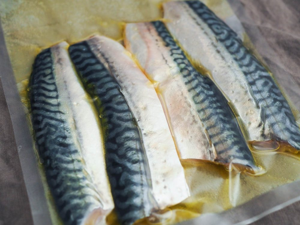 Makrela sous vide, consommé a zelenina