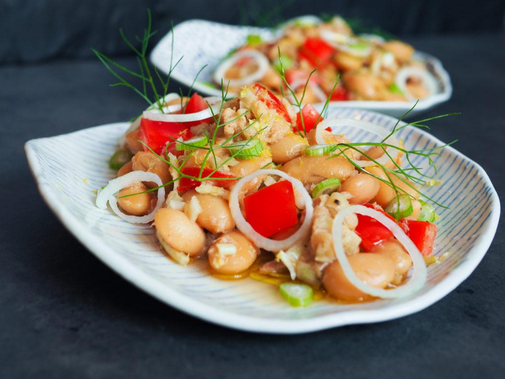Tuňákový salát s fazolemi a fenyklem